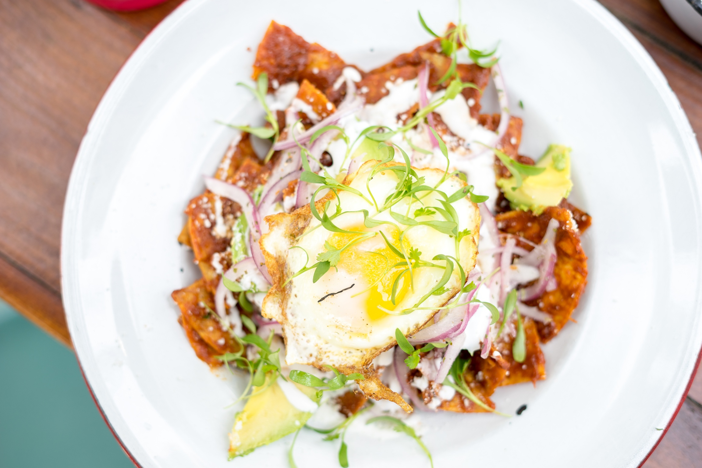 Chilaquiles at Salazar, Frogtown, Los Angeles, CA
