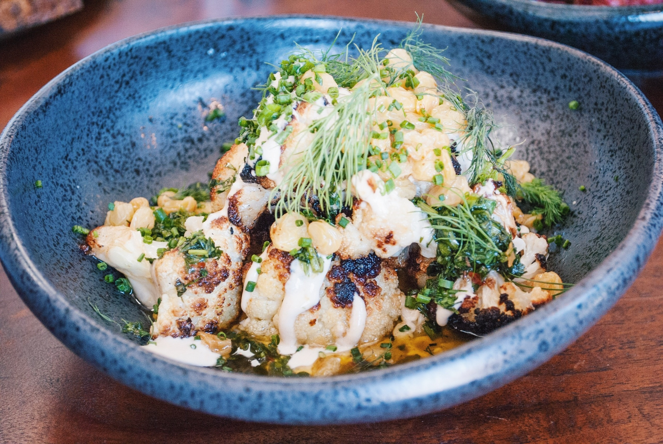 Cauliflower with Tahini and Lots of Herbs, Lodge Bread Co., Culver City, CA