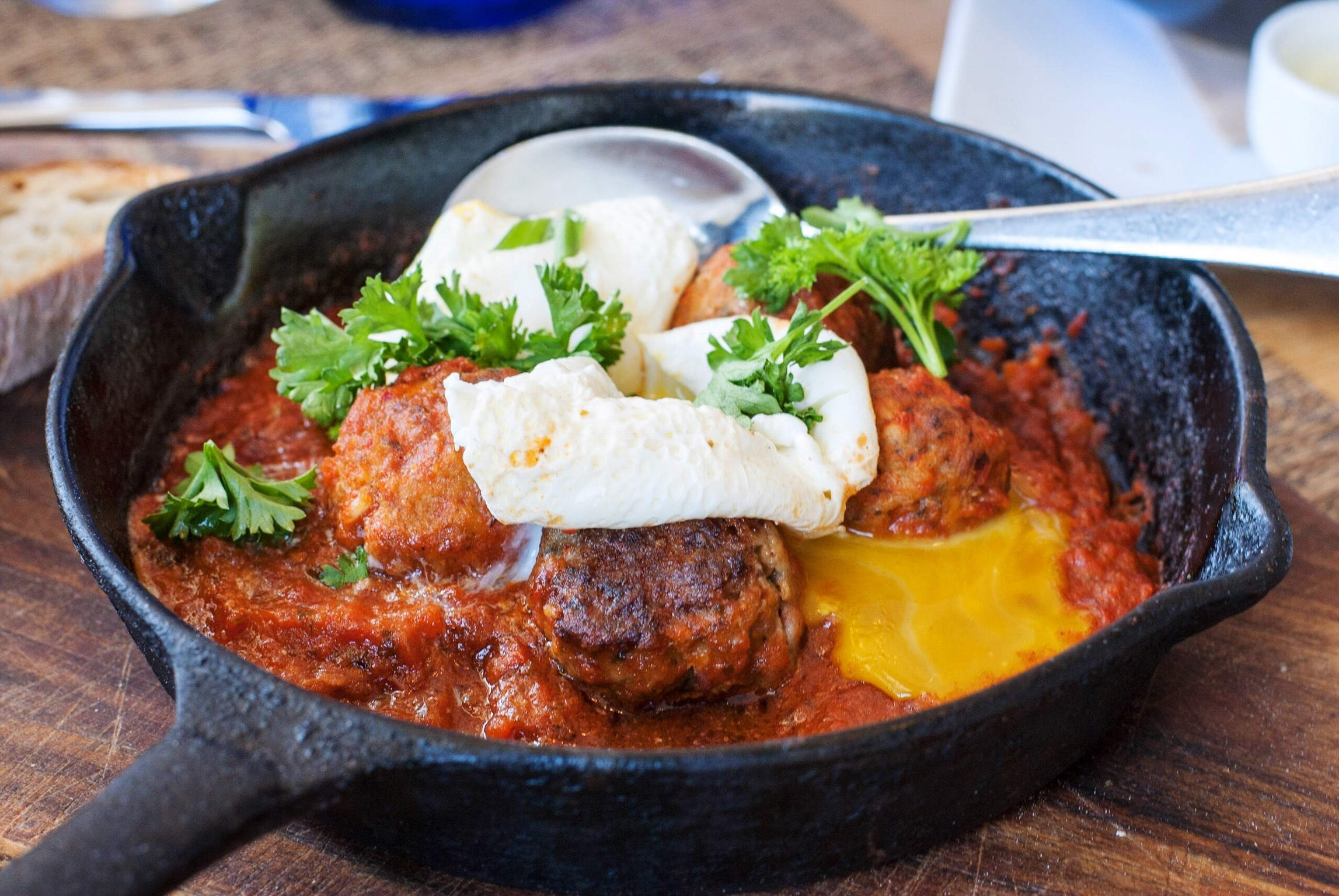 Hangover Meatballs at at Momed, Beverly Hills - Brunchographers