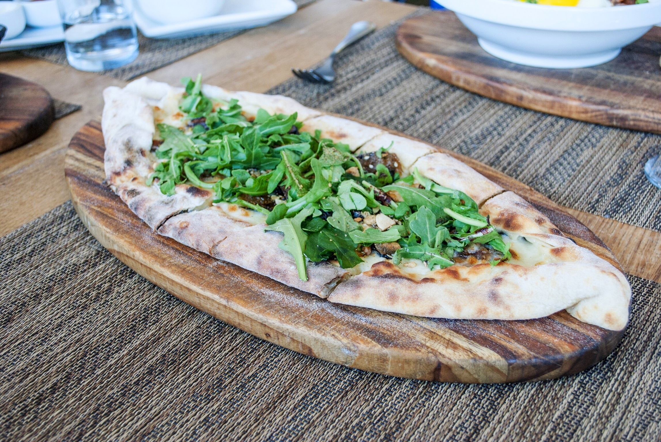 Fig and Arugula Pide,at Momed, Beverly Hills - Brunchographers