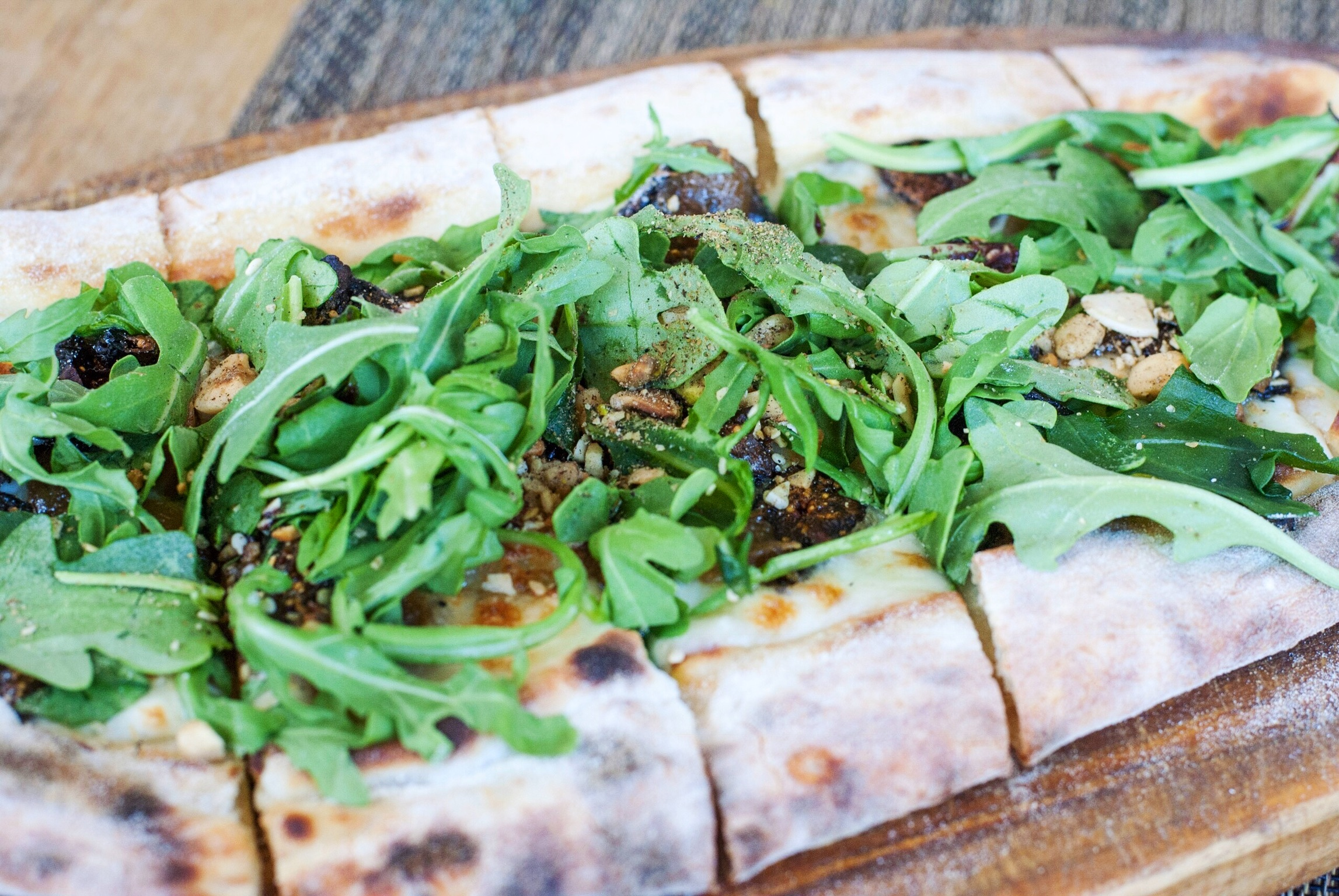 Fig and Arugula Pide at Momed, Beverly Hills - Brunchographers