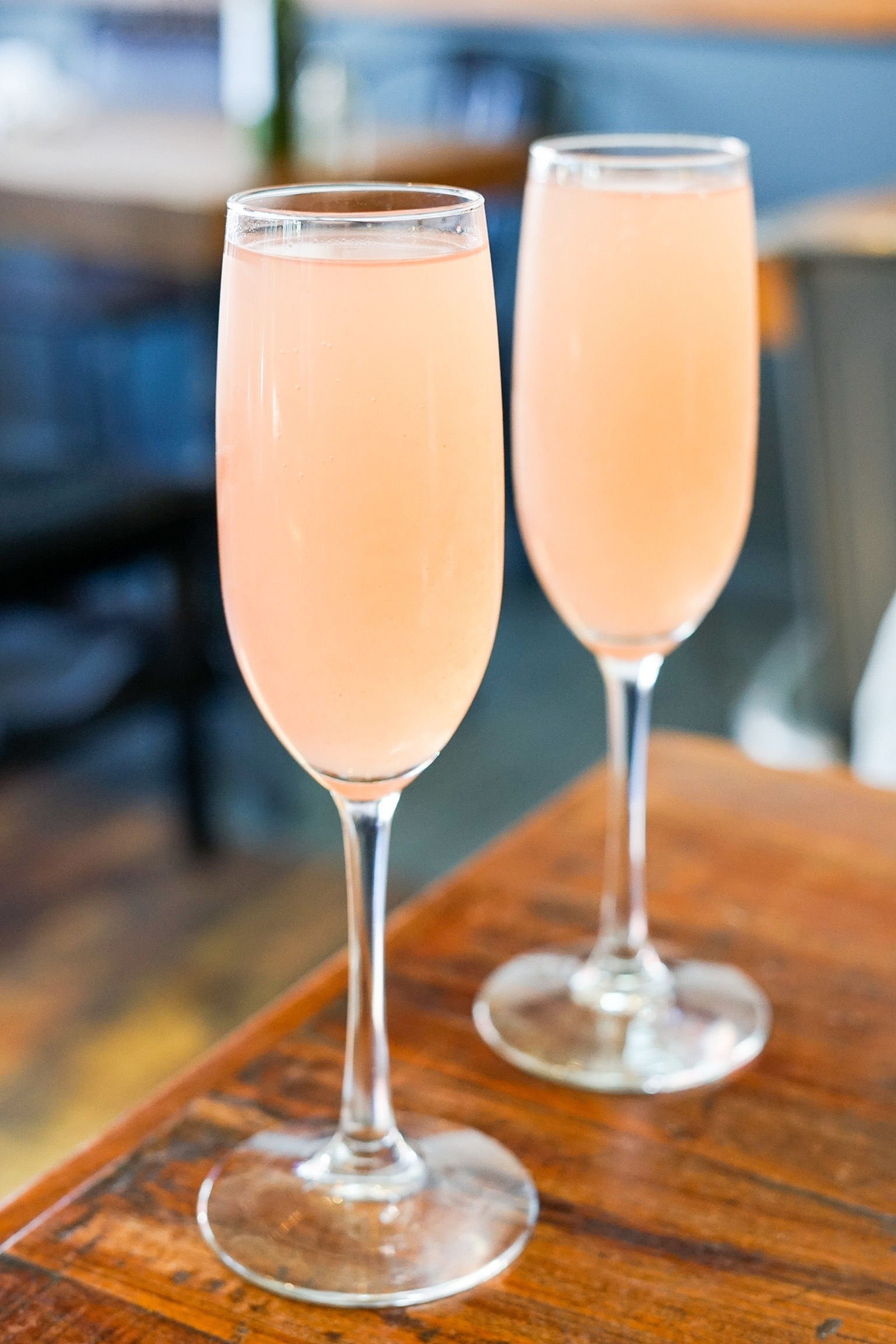 Guava Mimosas at The Rockefeller, Manhattan Beach, CA