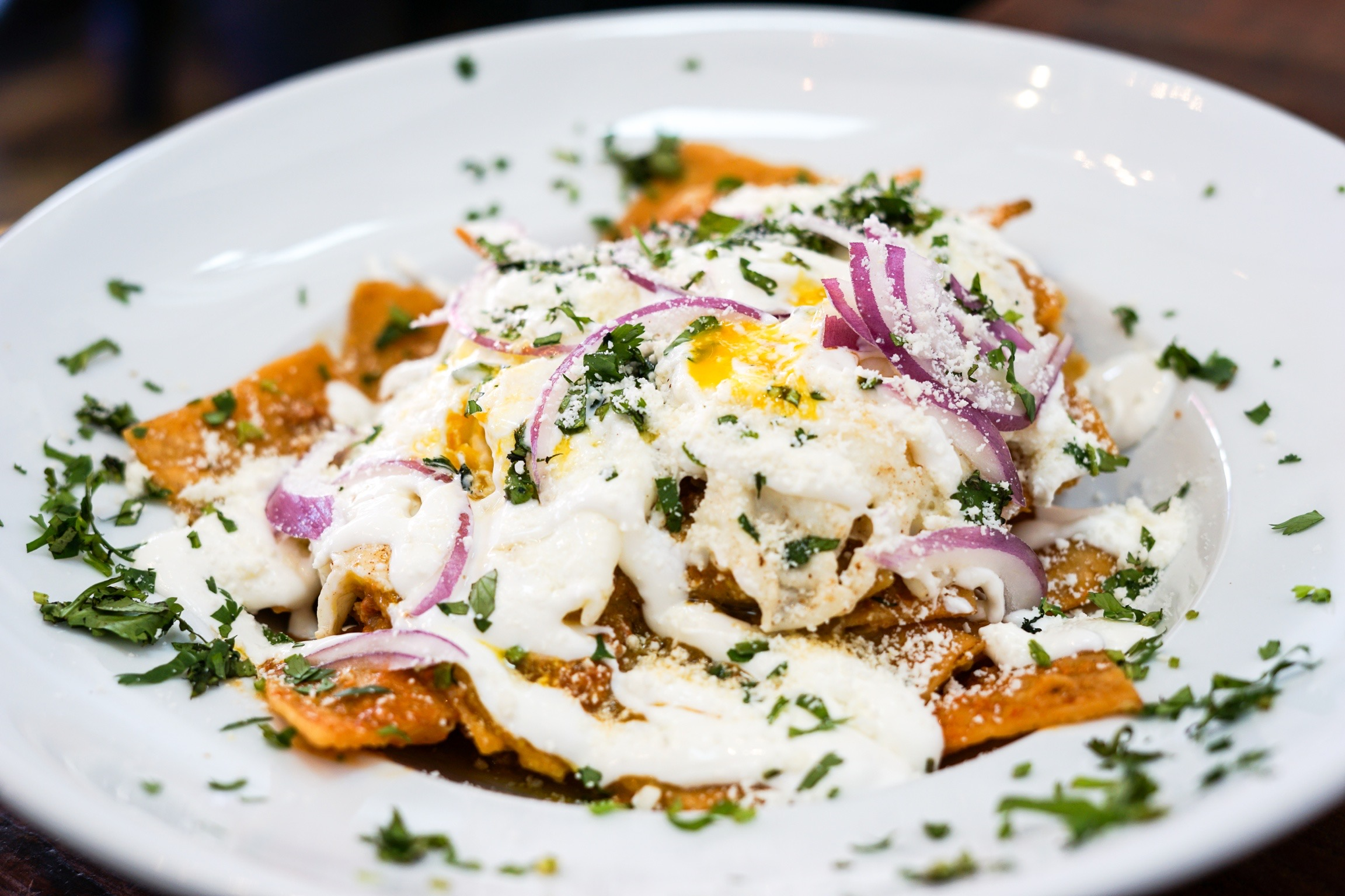 Chilaquiles at The Rockefeller, Manhattan Beach, CA