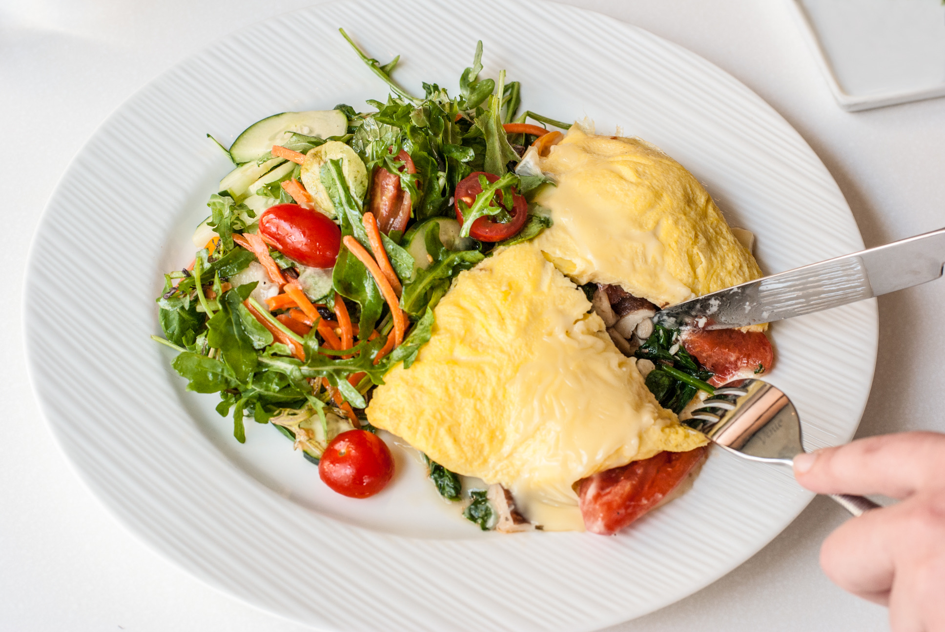 French Brie Omelet at Beachside Restaurant & Bar, Marina del Rey, CA