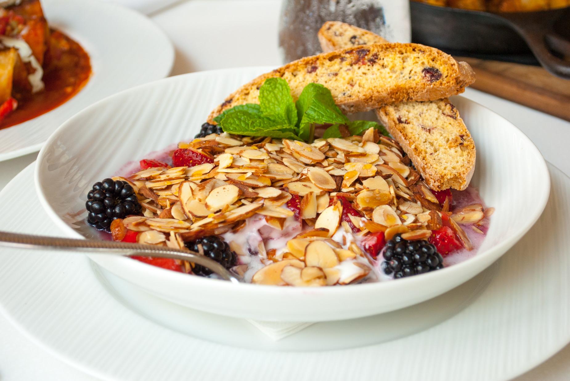 Greek Yogurt &Fresh Berries at Beachside Restaurant & Bar, Marina del Rey, CA