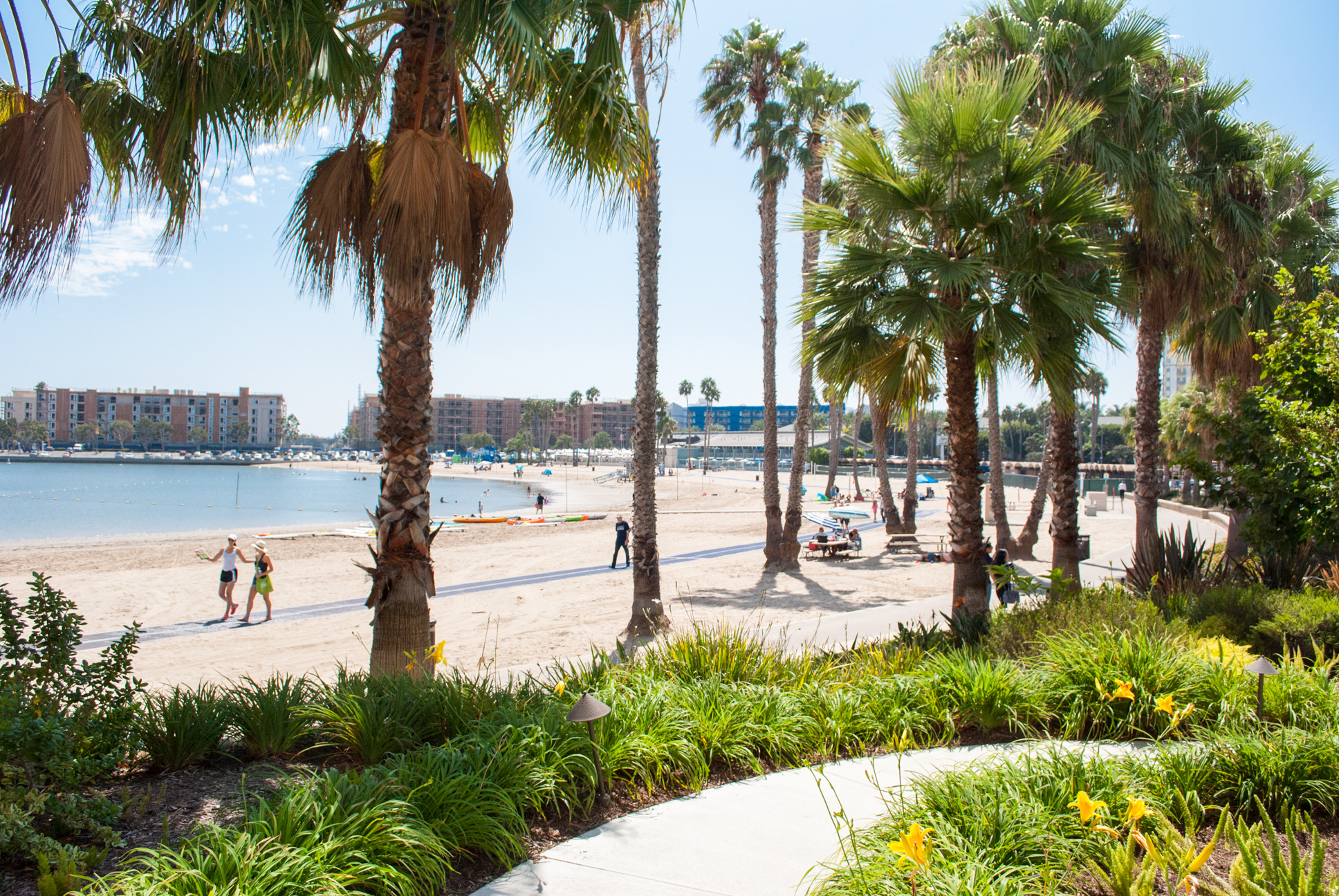 Beautiful views of Mother's Beach from Beachside Restaurant & Bar, Marina del Rey, CA