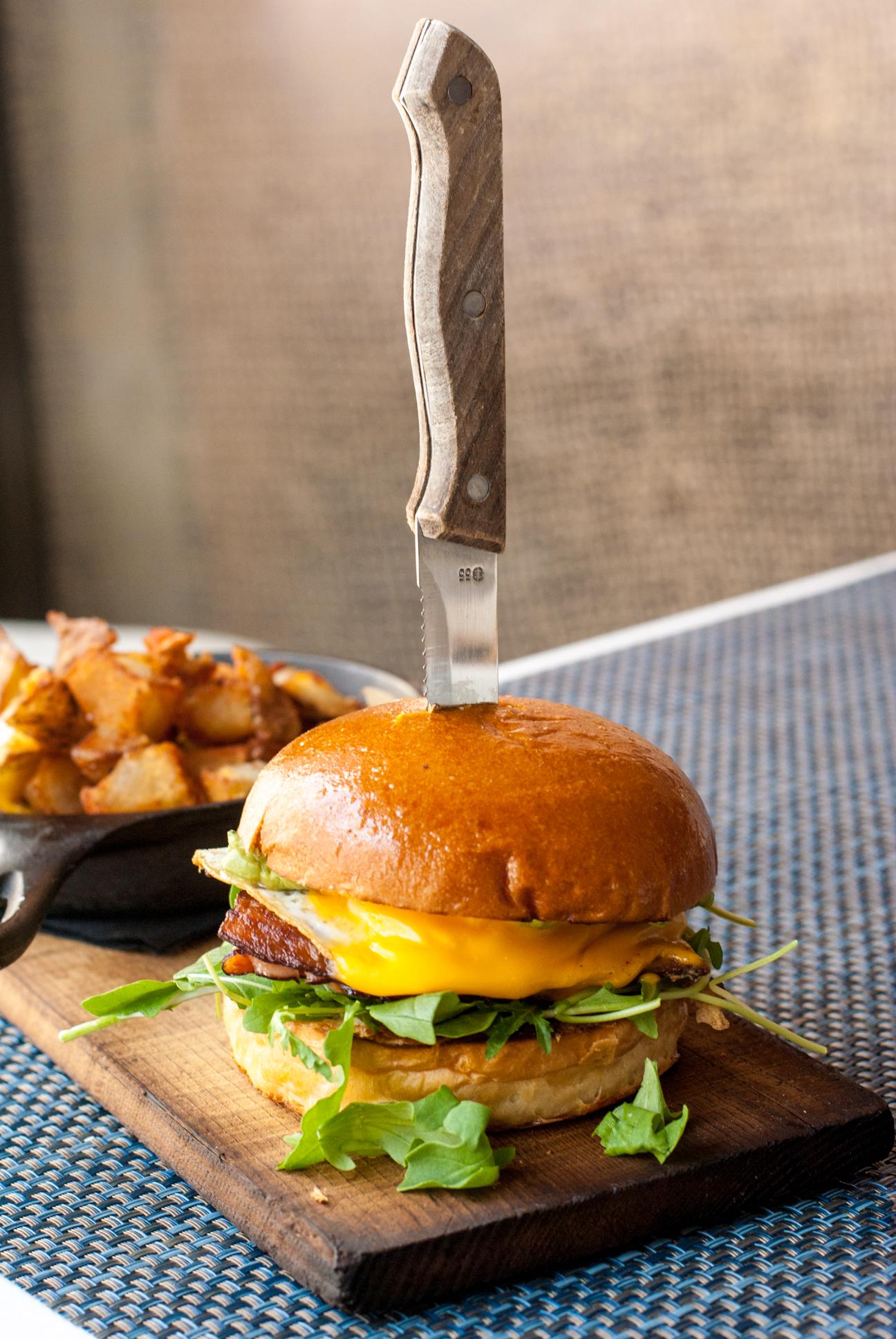 Three Little Piggies breakfast sandwich at Beachside Restaurant & Bar, Marina del Rey, CA