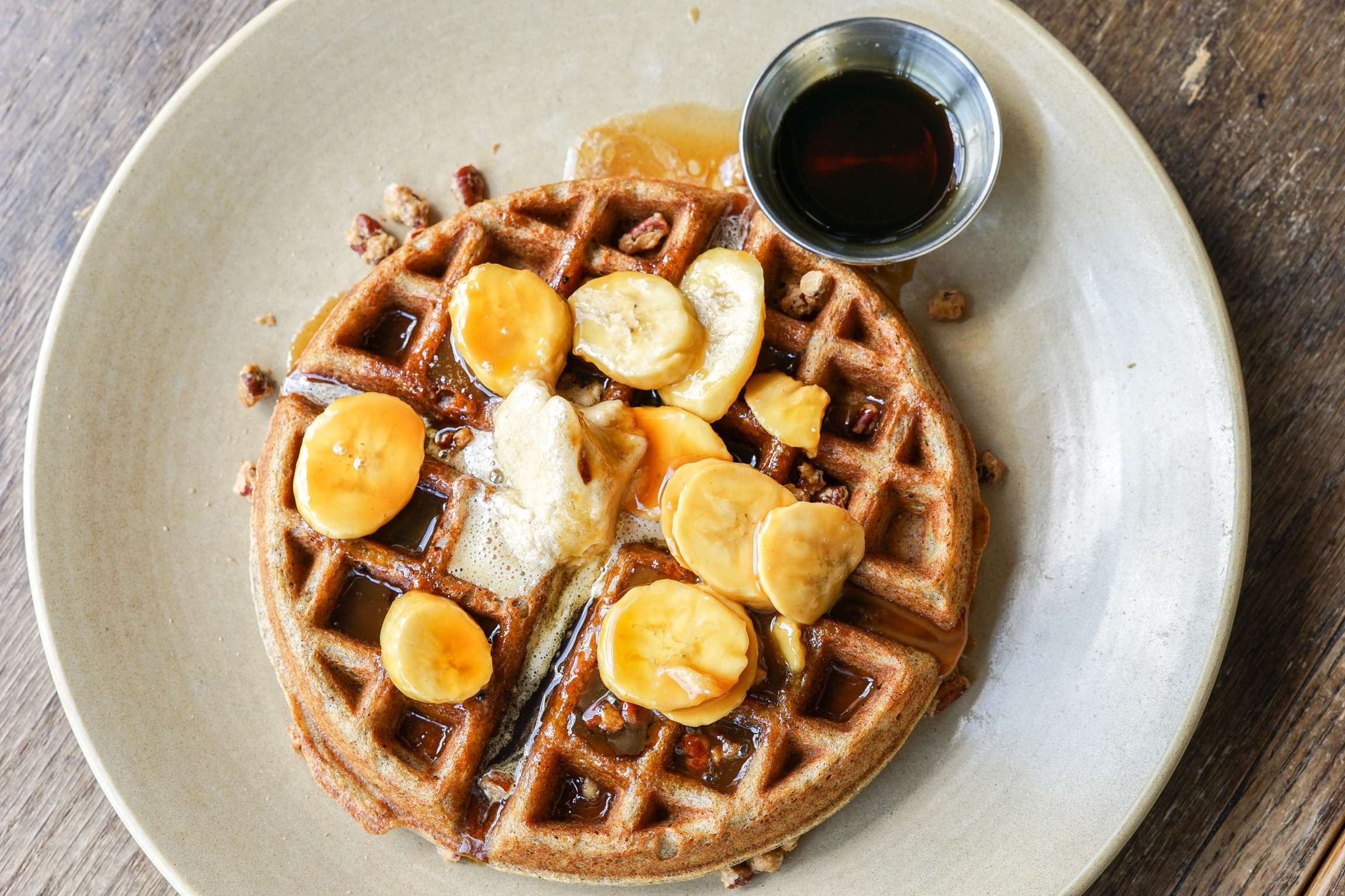 Buckwheat Waffle at at Akasha Restaurant, Culver City, CA
