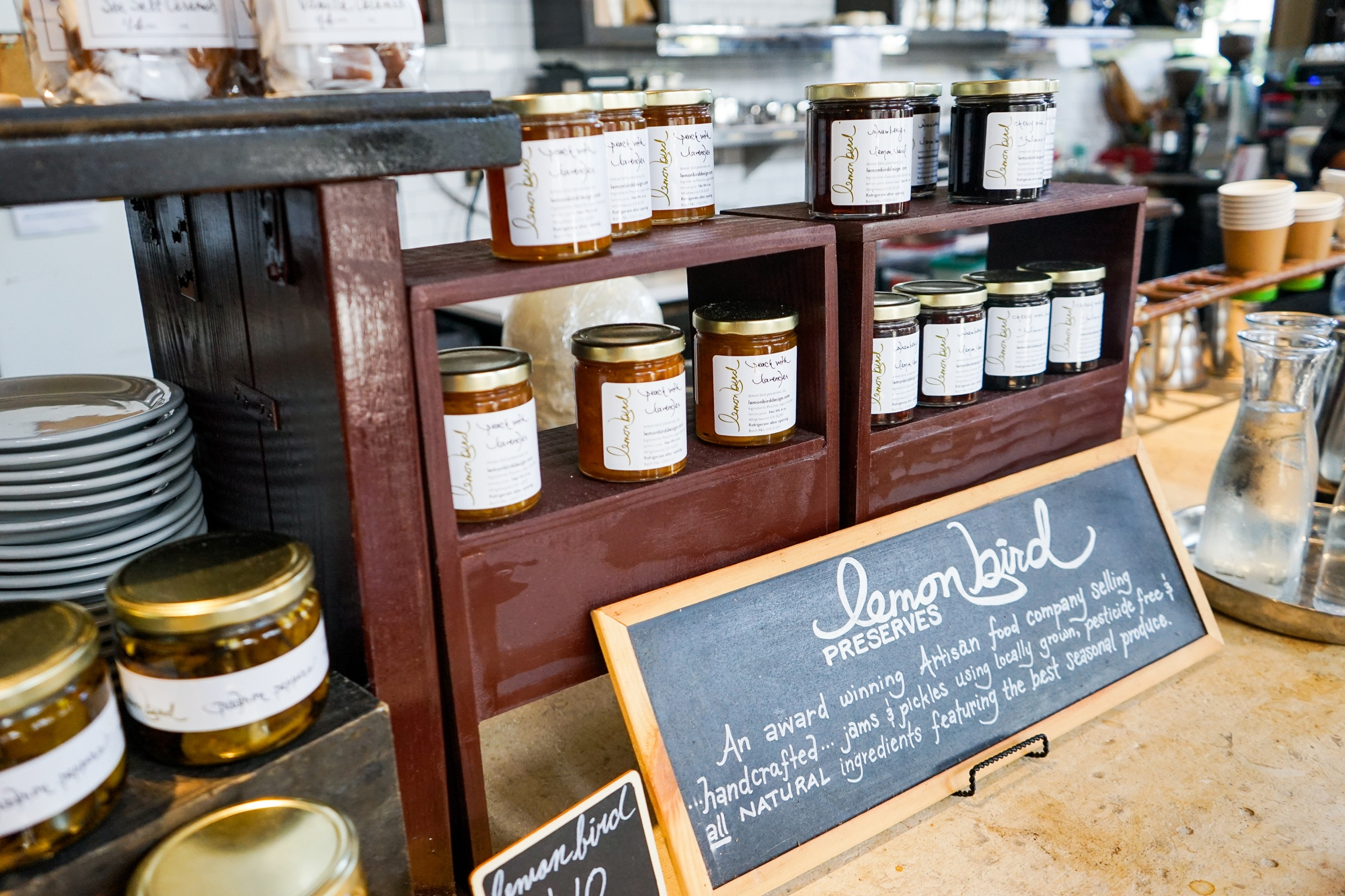 Lemon Bird Preserves available at Akasha Restaurant, Culver City, CA