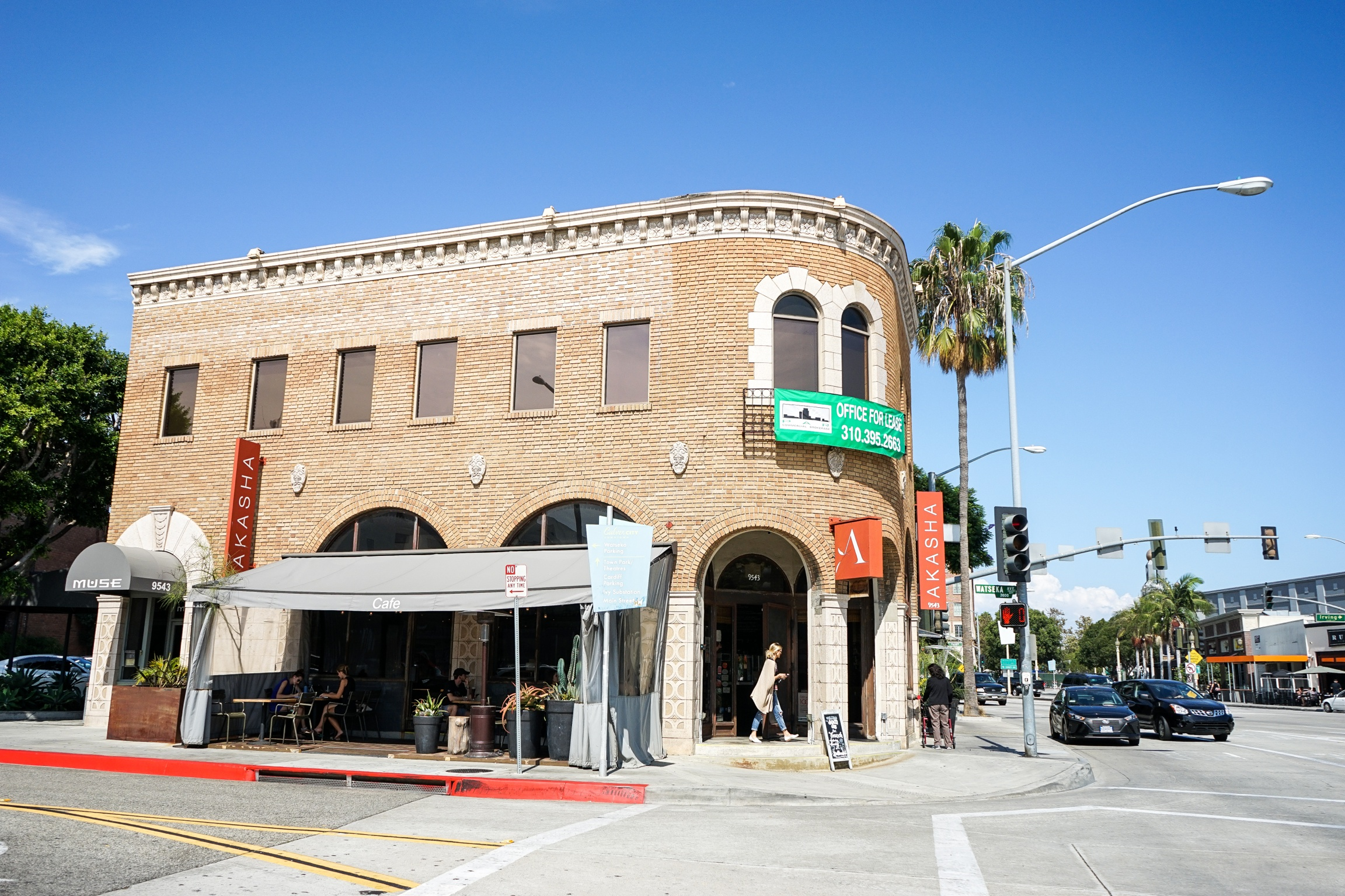 Akasha Restaurant in the historic Hull Building, Culver City, CA