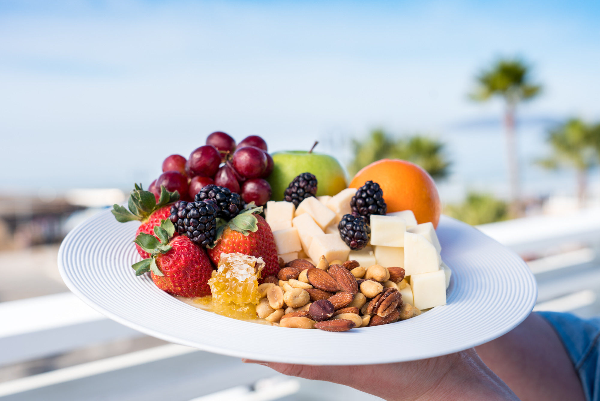 Fruit and Cheese Plate, The Rooftop at Inn at the Pier, Pismo Beach, CA