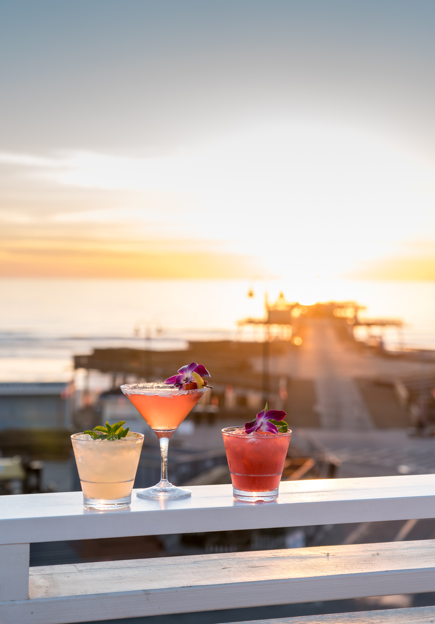 Cocktails at The Rooftop at Inn at the Pier, Pismo Beach, CA
