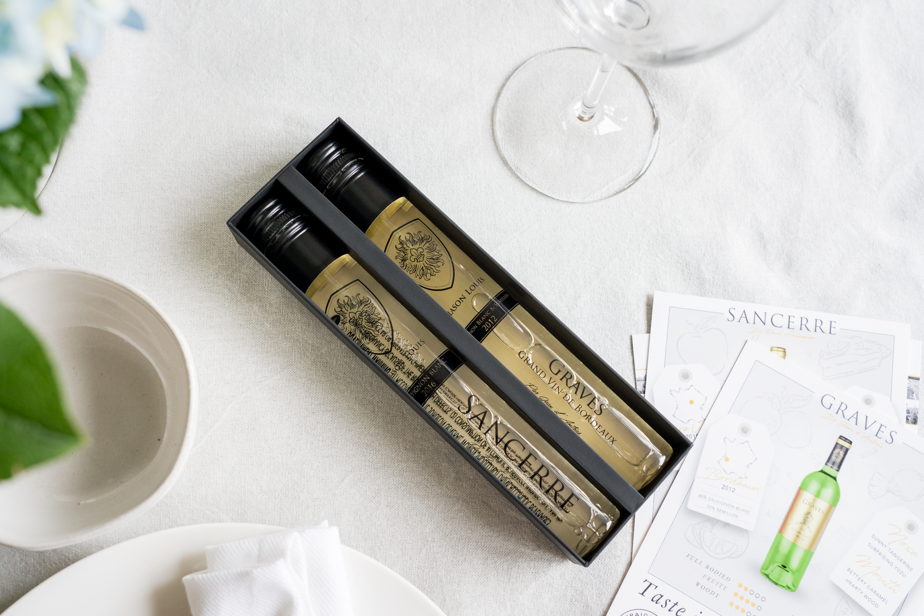Blason Louis Tasting Box with Guides - Brunchographers' French-Inspired Wine Tasting Brunch
