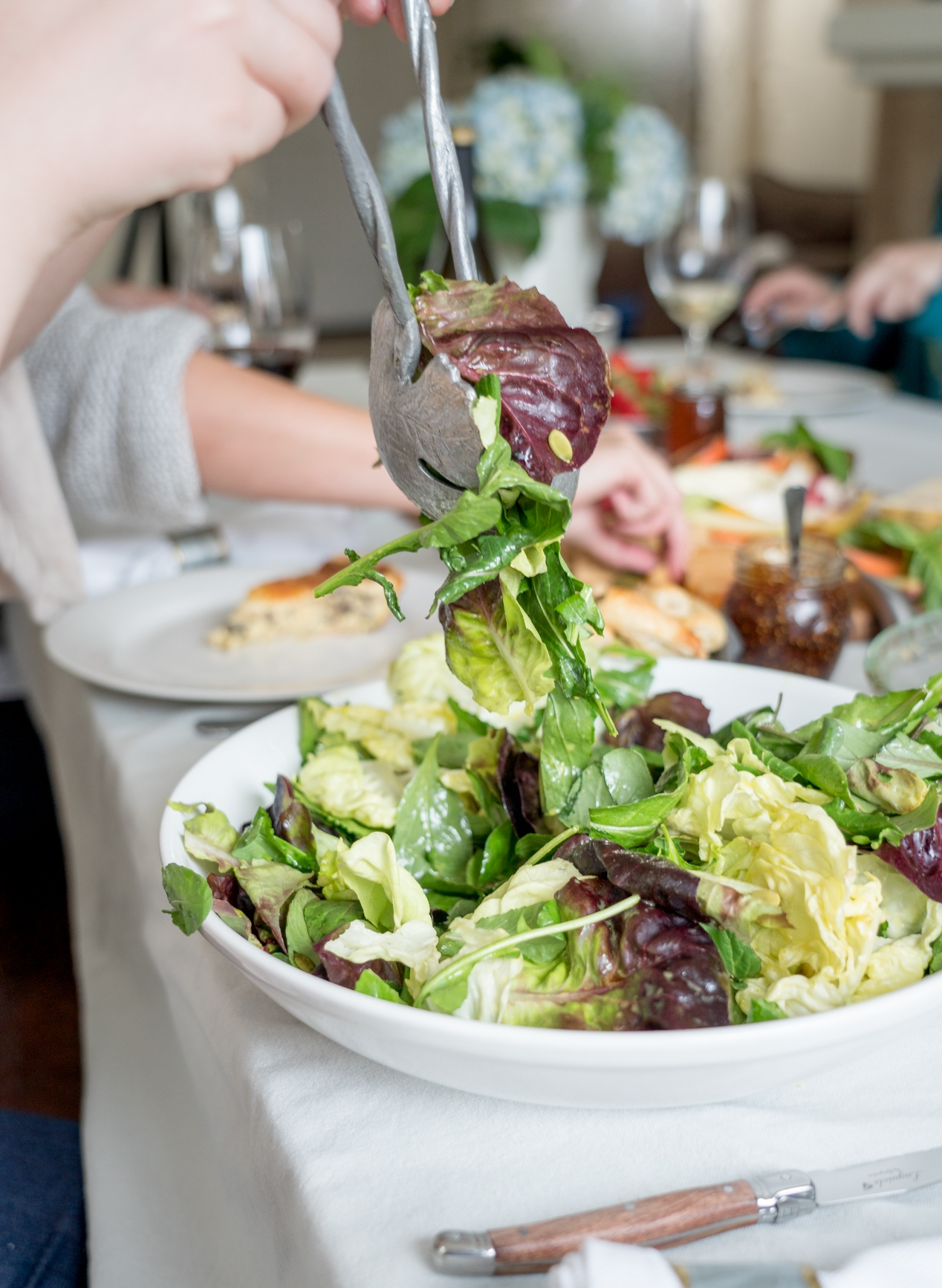 A simple salad, because we always eat our greens - Brunchographers' French-Inspired Wine Tasting Brunch