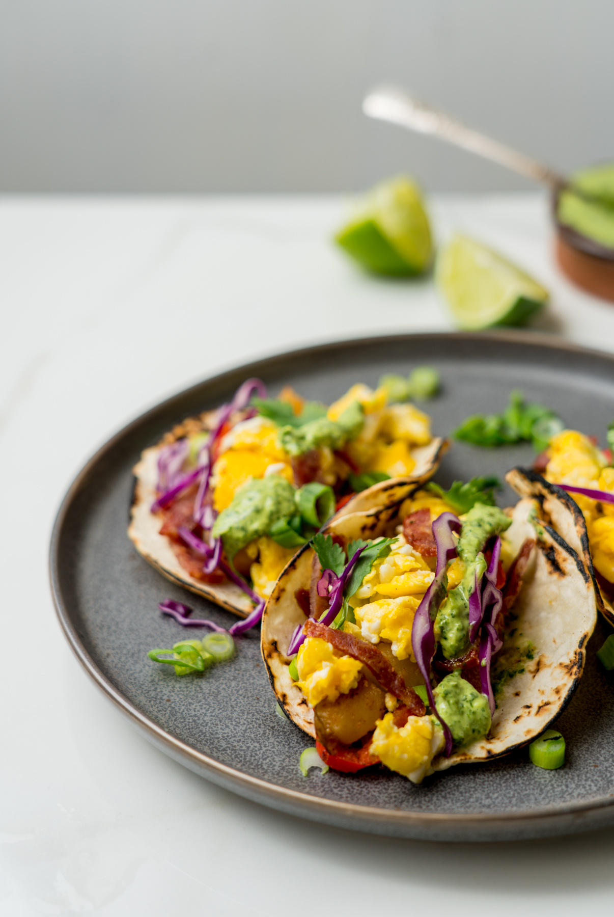 Easy Peasy Breakfast Tacos, recipe by Brunchographers