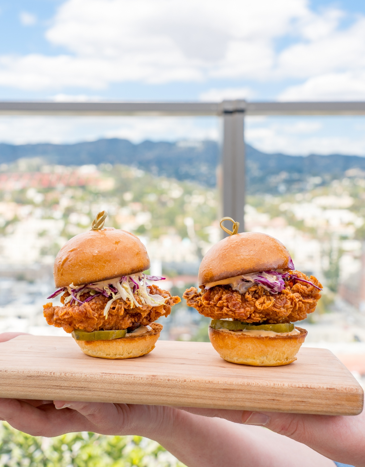Fried Chicken Sliders, Beautiful Brunch Spread, Filifera, Hollywood, CA - Brunchographers