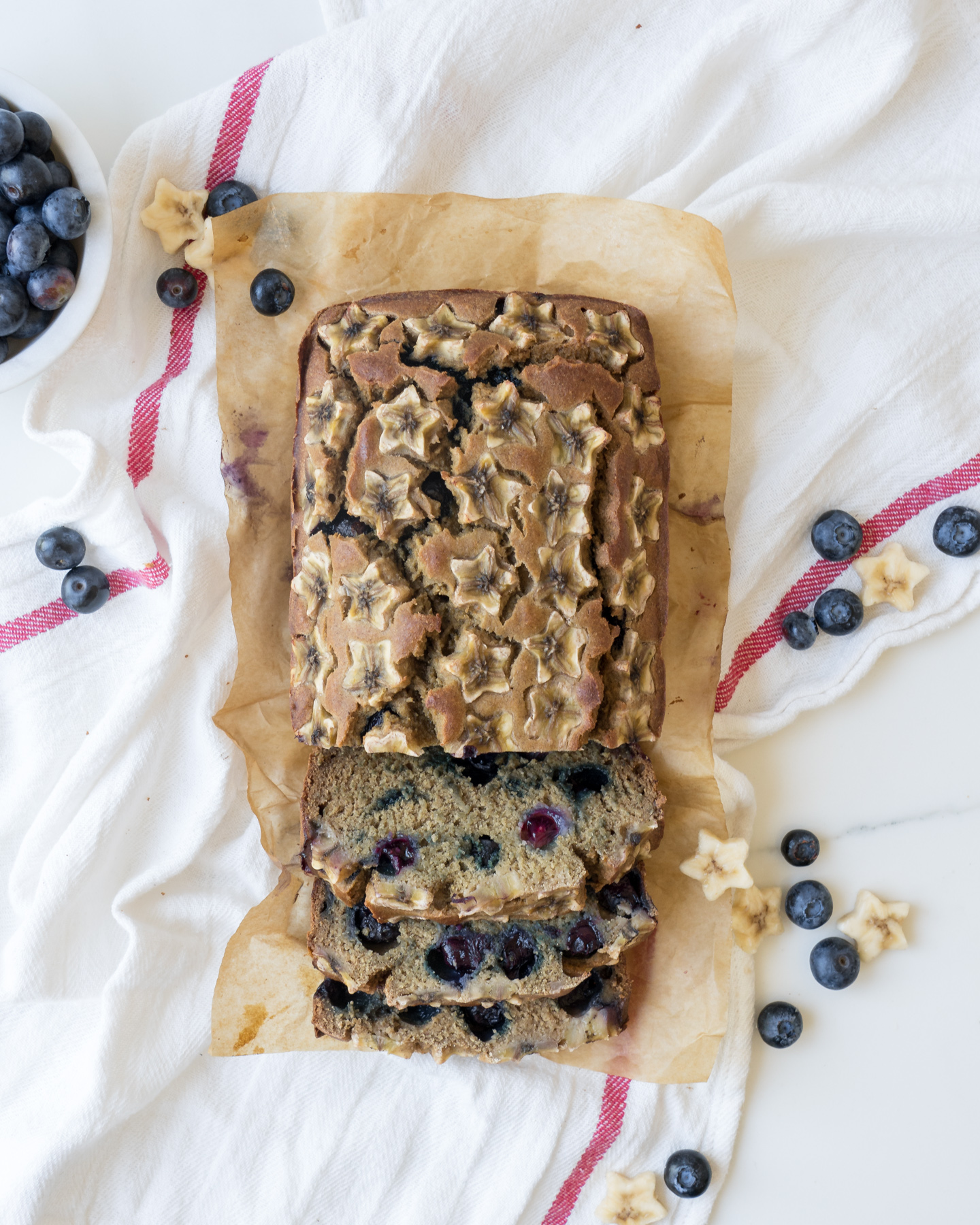 Star-Spangled Blueberry Banana Bread, Brunchographers
