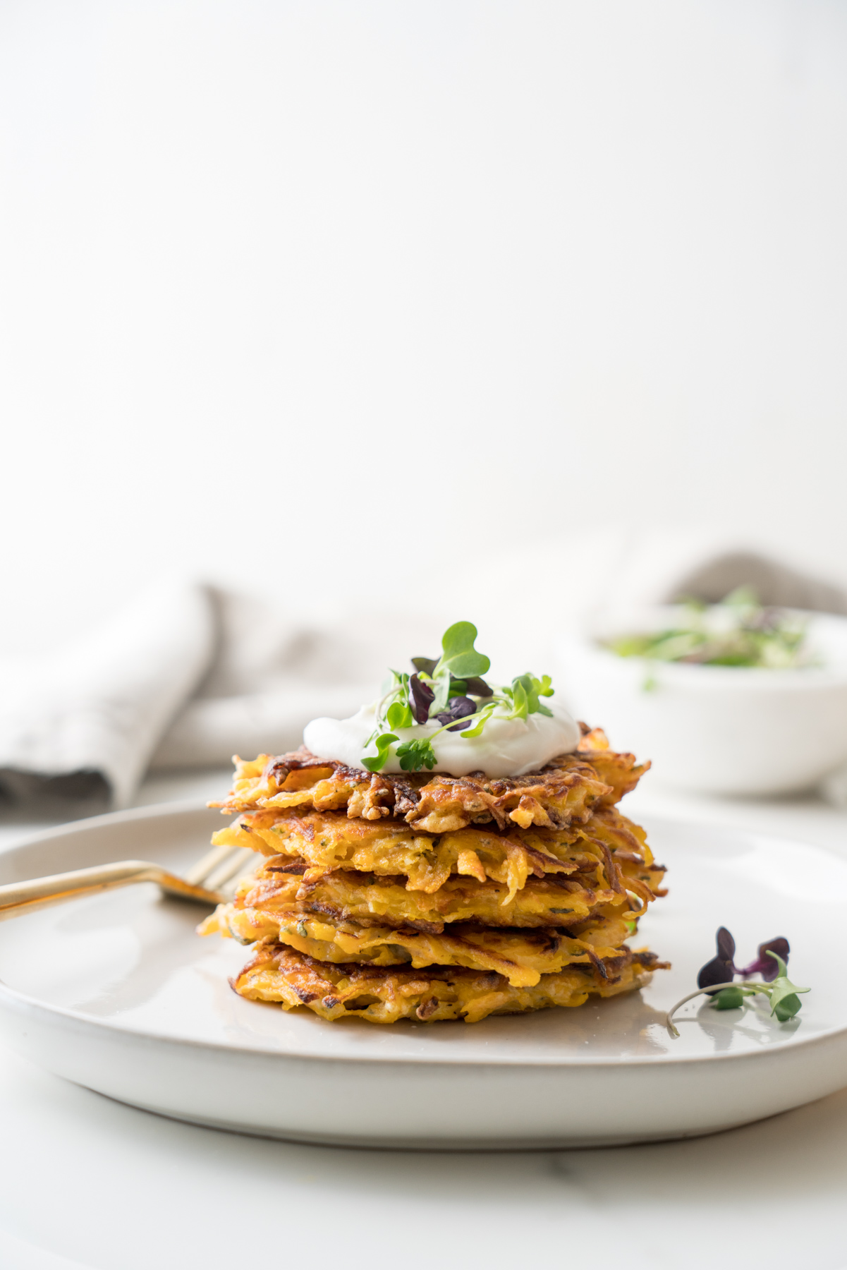 Simple Butternut Squash Fritters, by Brunchographers