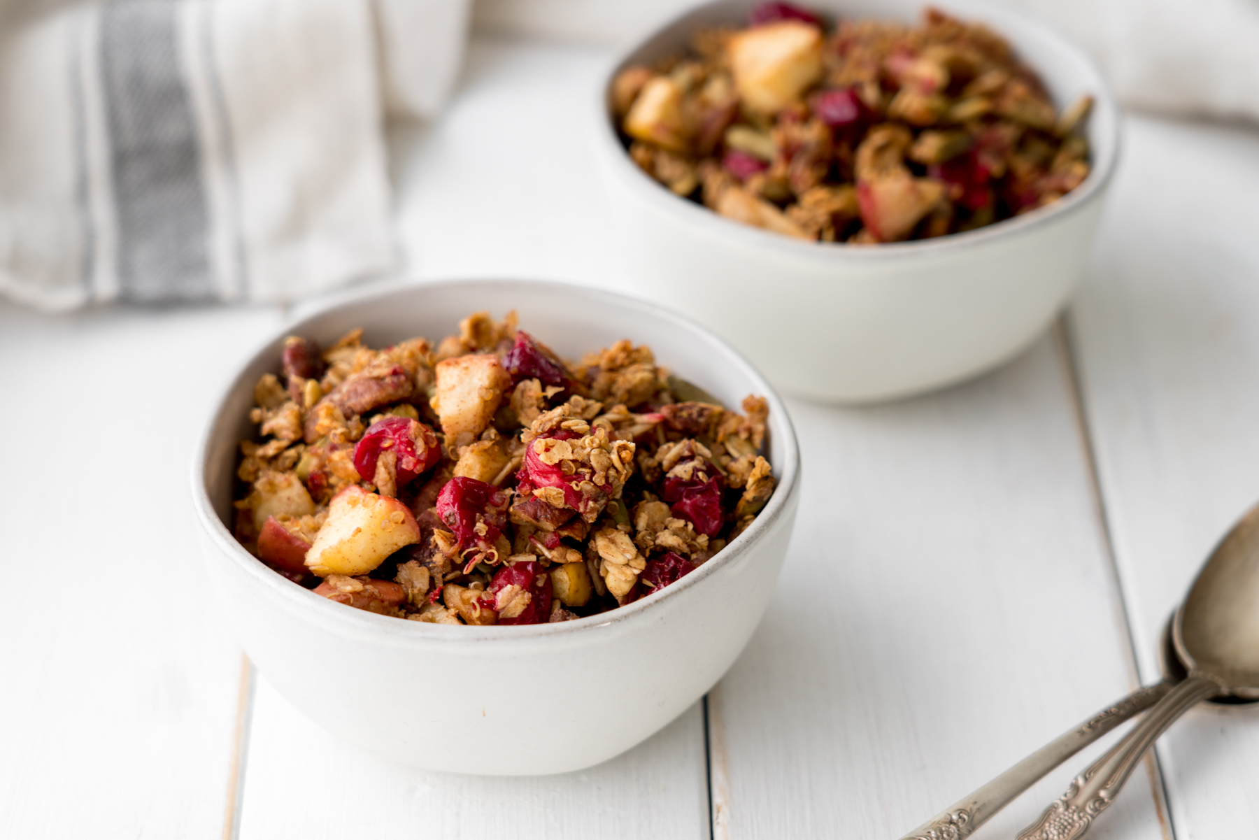 Maple Cranberry Harvest Granola, by Brunchographers