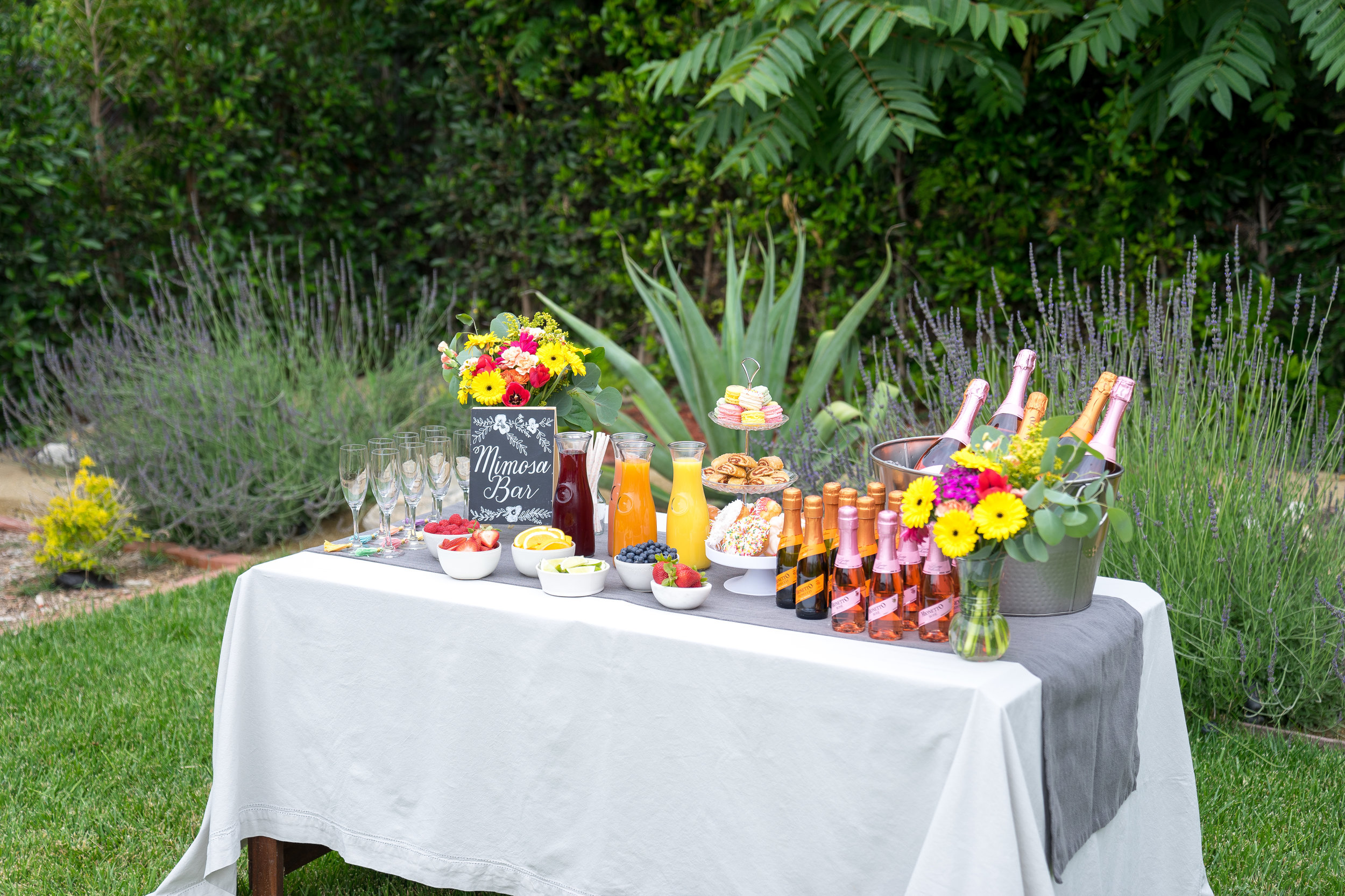 Build-Your-Own-Mimosa Bar Party, featuring Mionetto Prosecco - Brunchographers