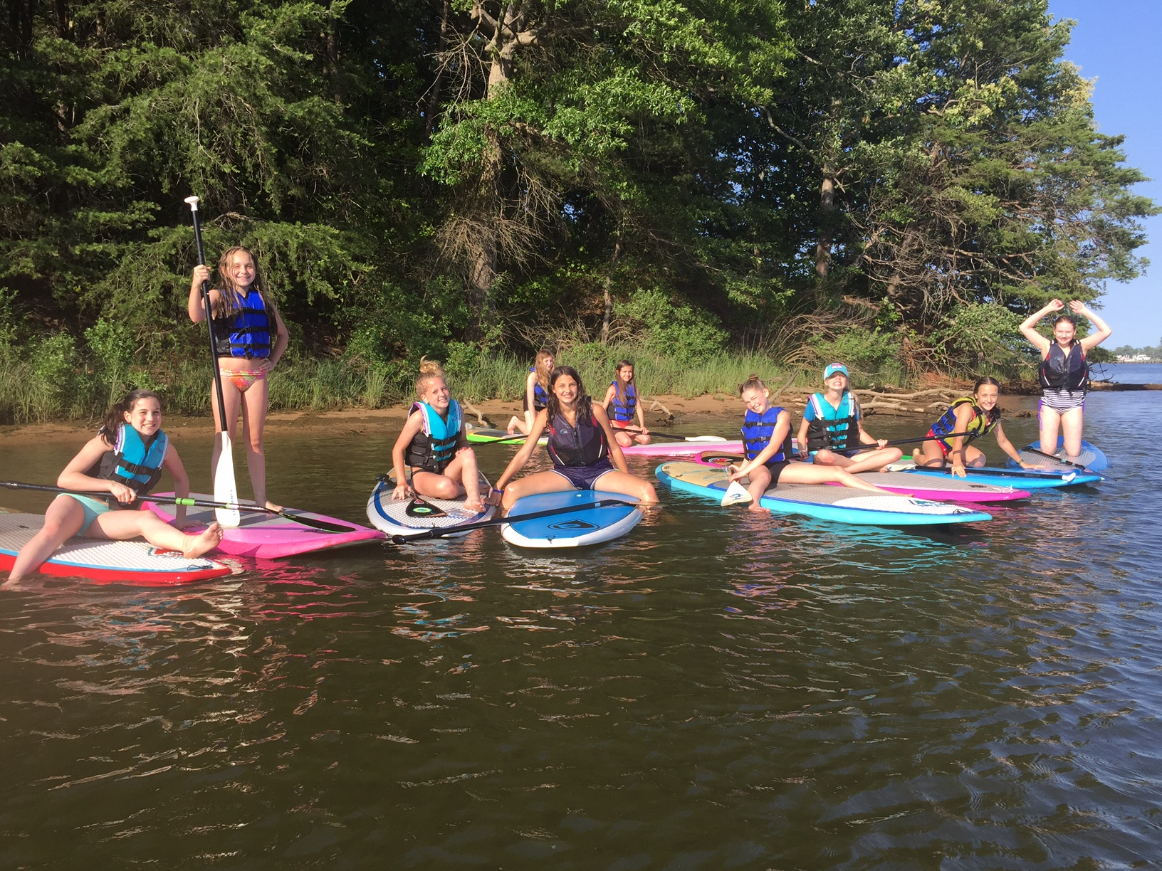 Girl Scouts LOVE to SUP!