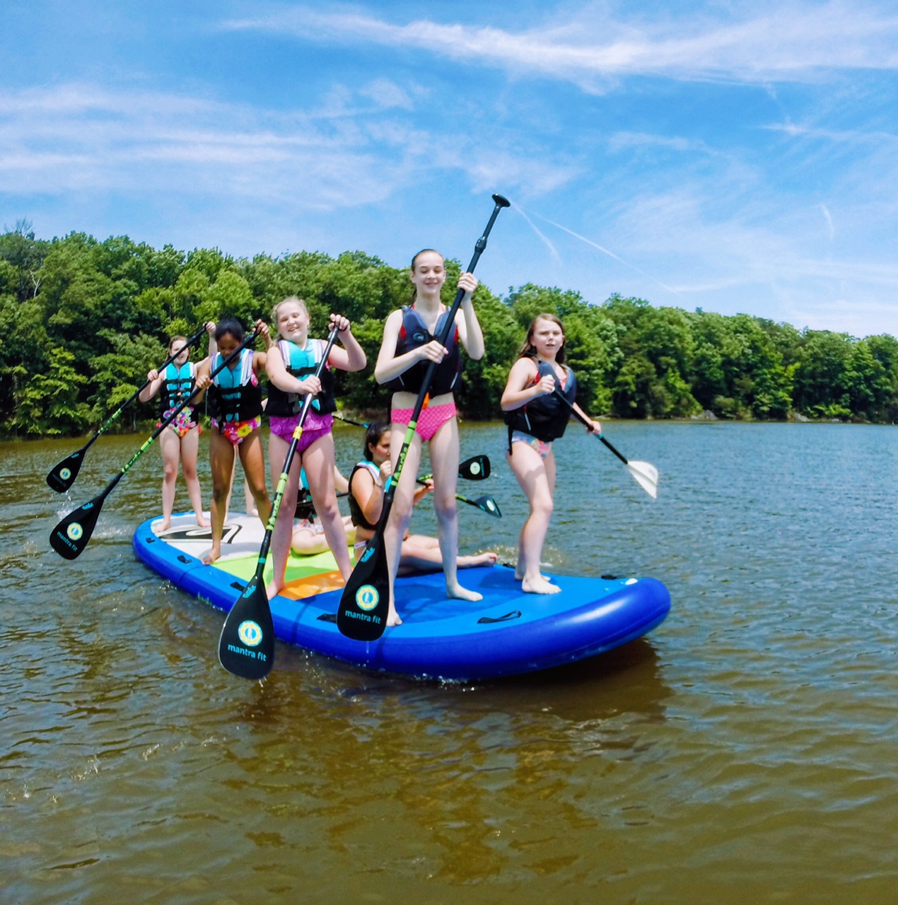 sup kids camp paddle