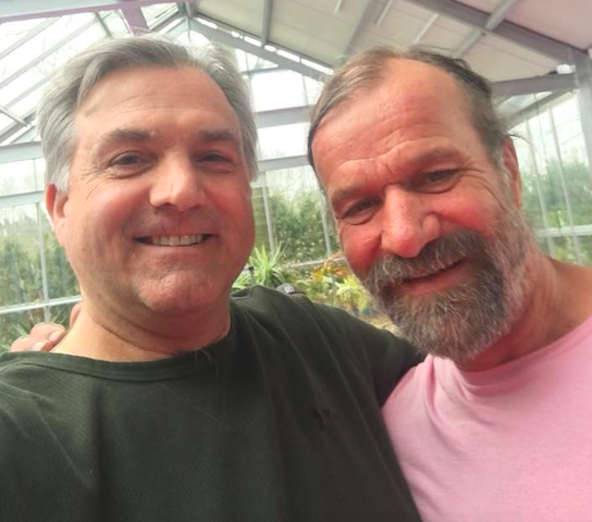 Your certified instructor Bill Cords with Wim Hof.