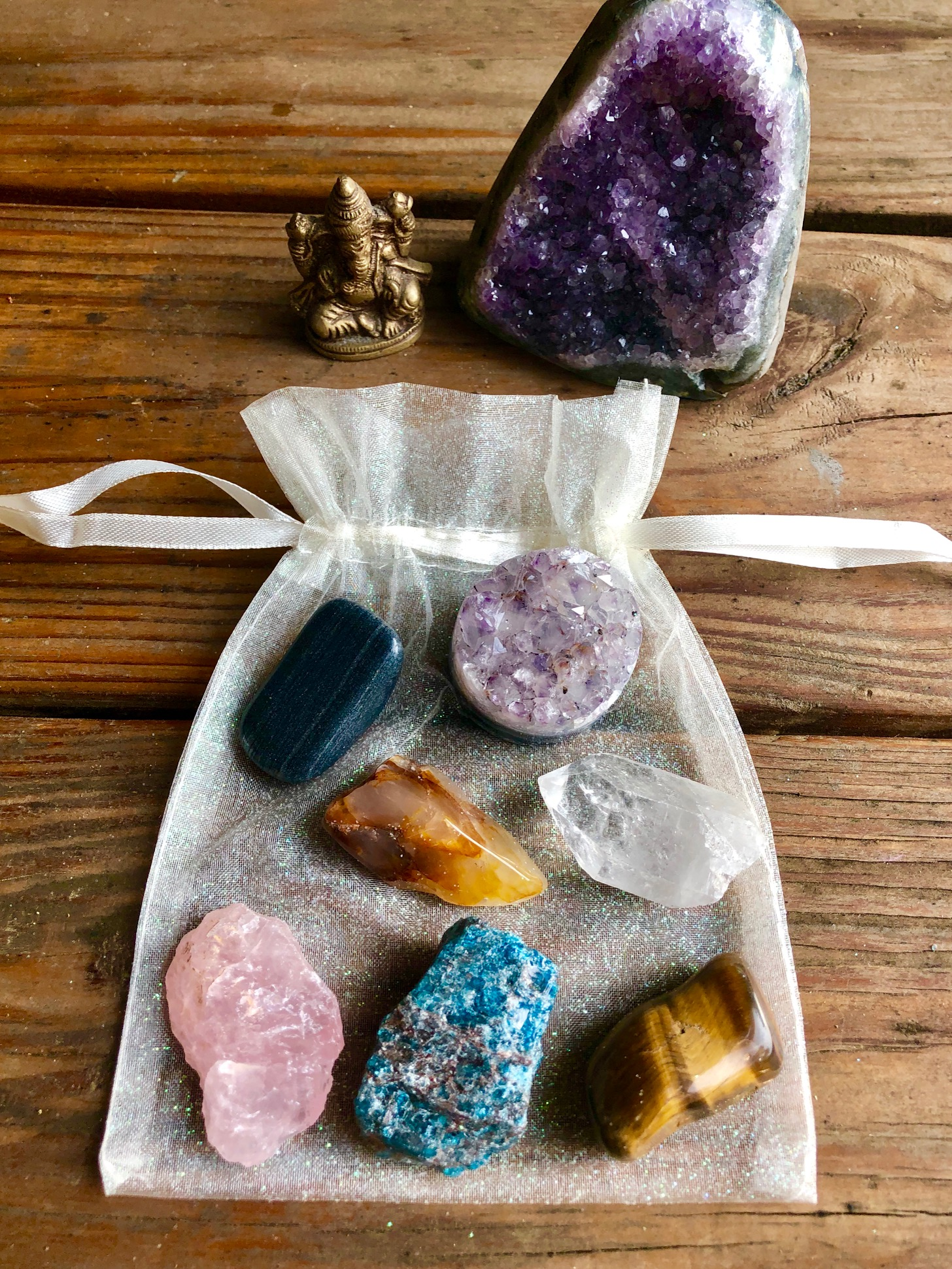 Our Chakra Gemstone Healing Kits can be purchased for $35 at our Severna Park studio. Learn what stones align with what chakra  HERE