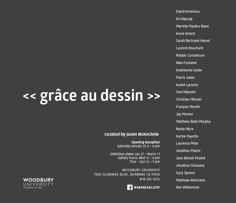 - grace au dessin, NanRae Gallery, LAJan 27 - March 17 2018
