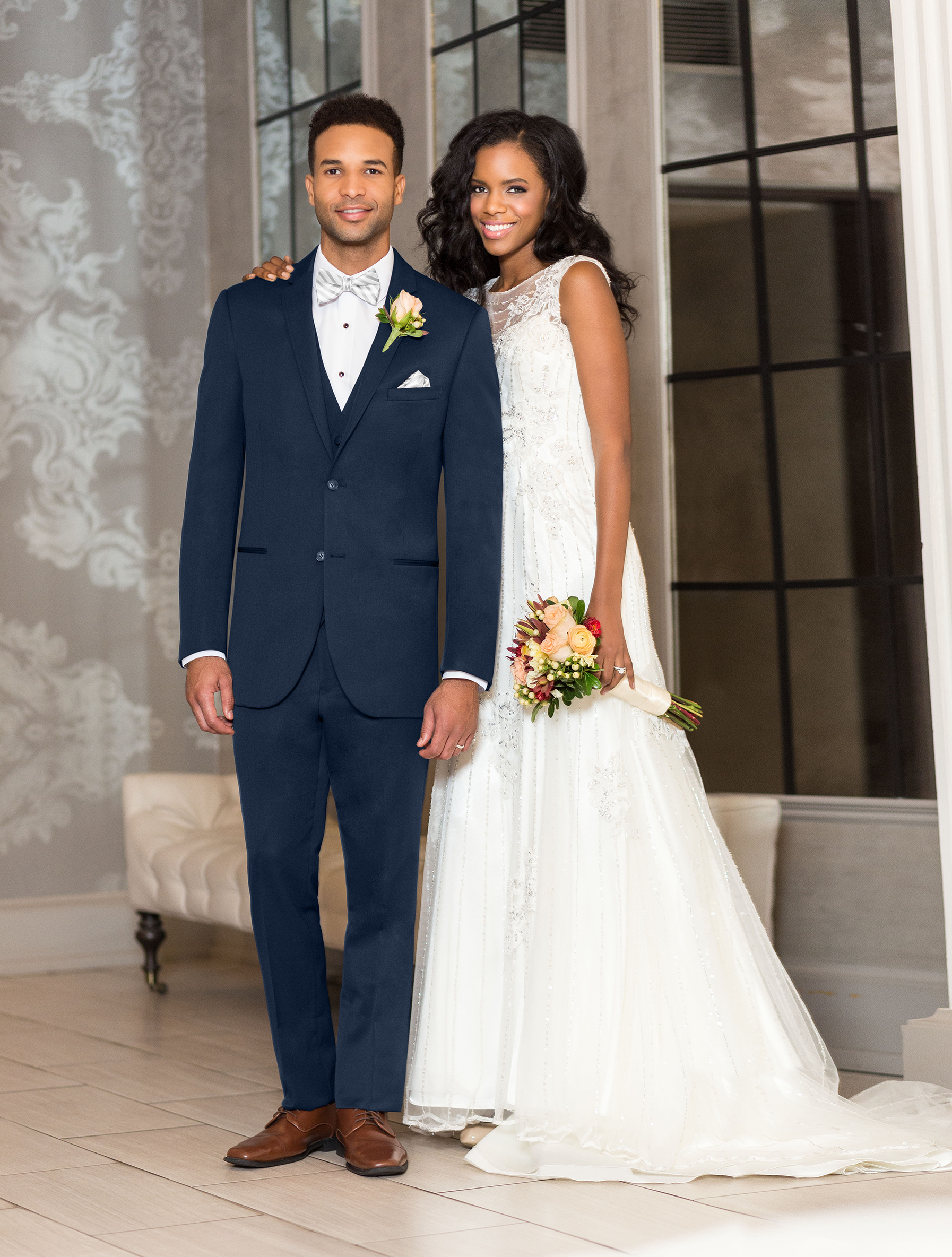 View Grey & Navy Tuxedos