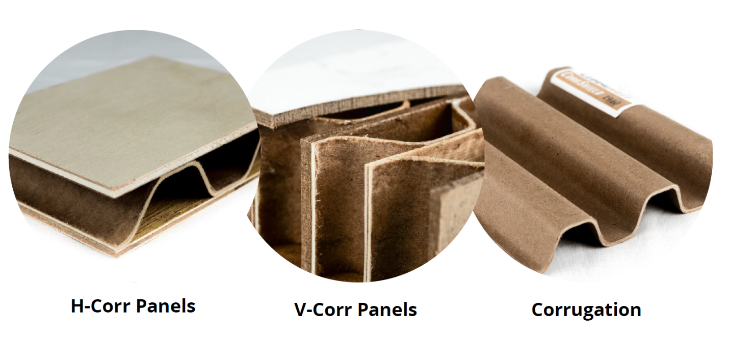 Corruven makes a variety of corrugated wood products for various industries.