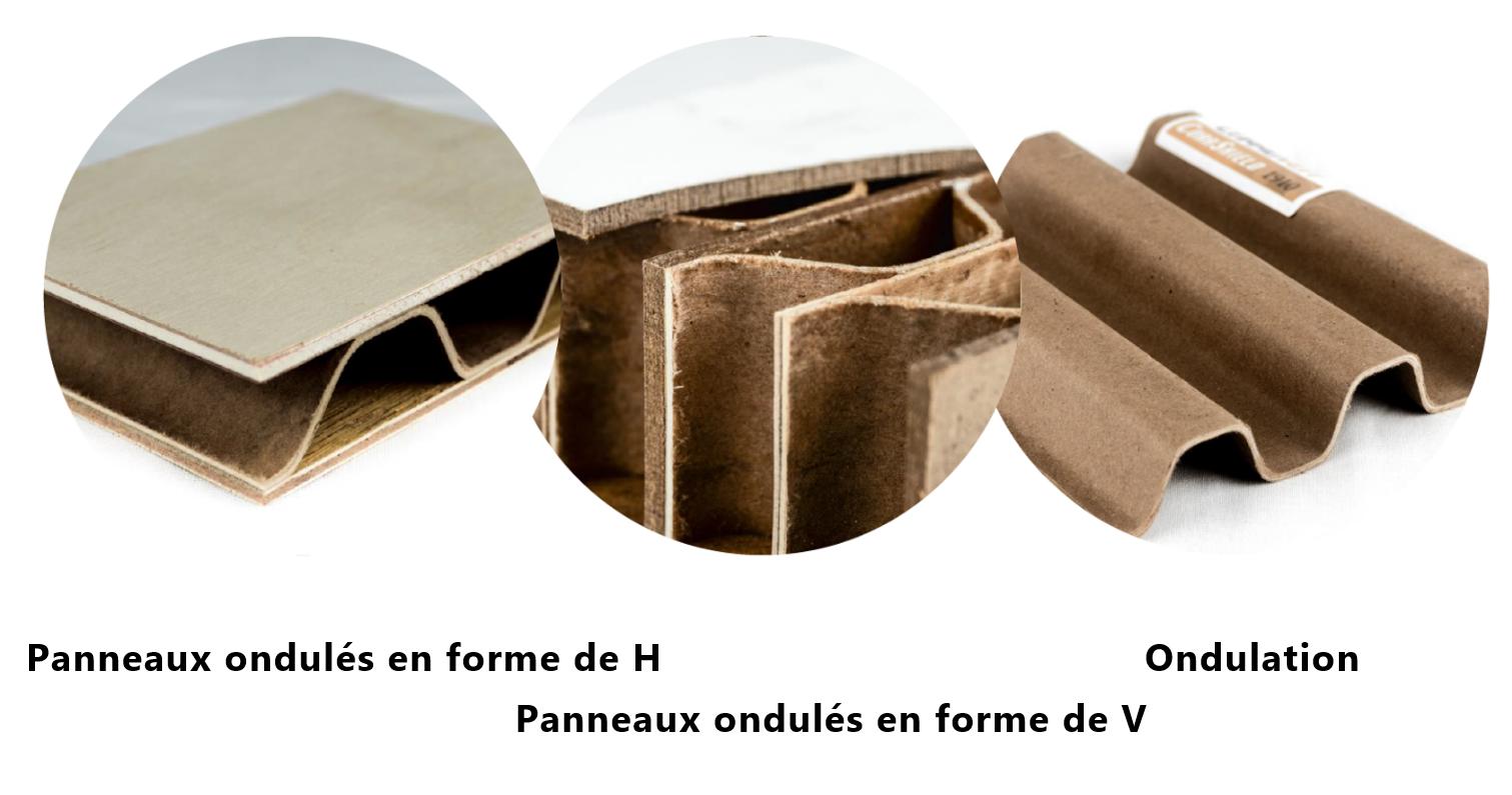 Corruven fabrique de nombreux produits ondulés du bois pour de nombreuses industries.