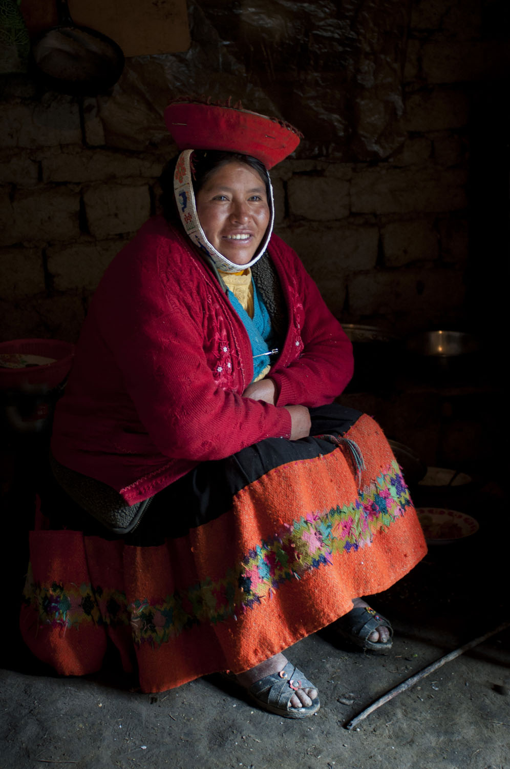 Quechuan Woman in Kitchen