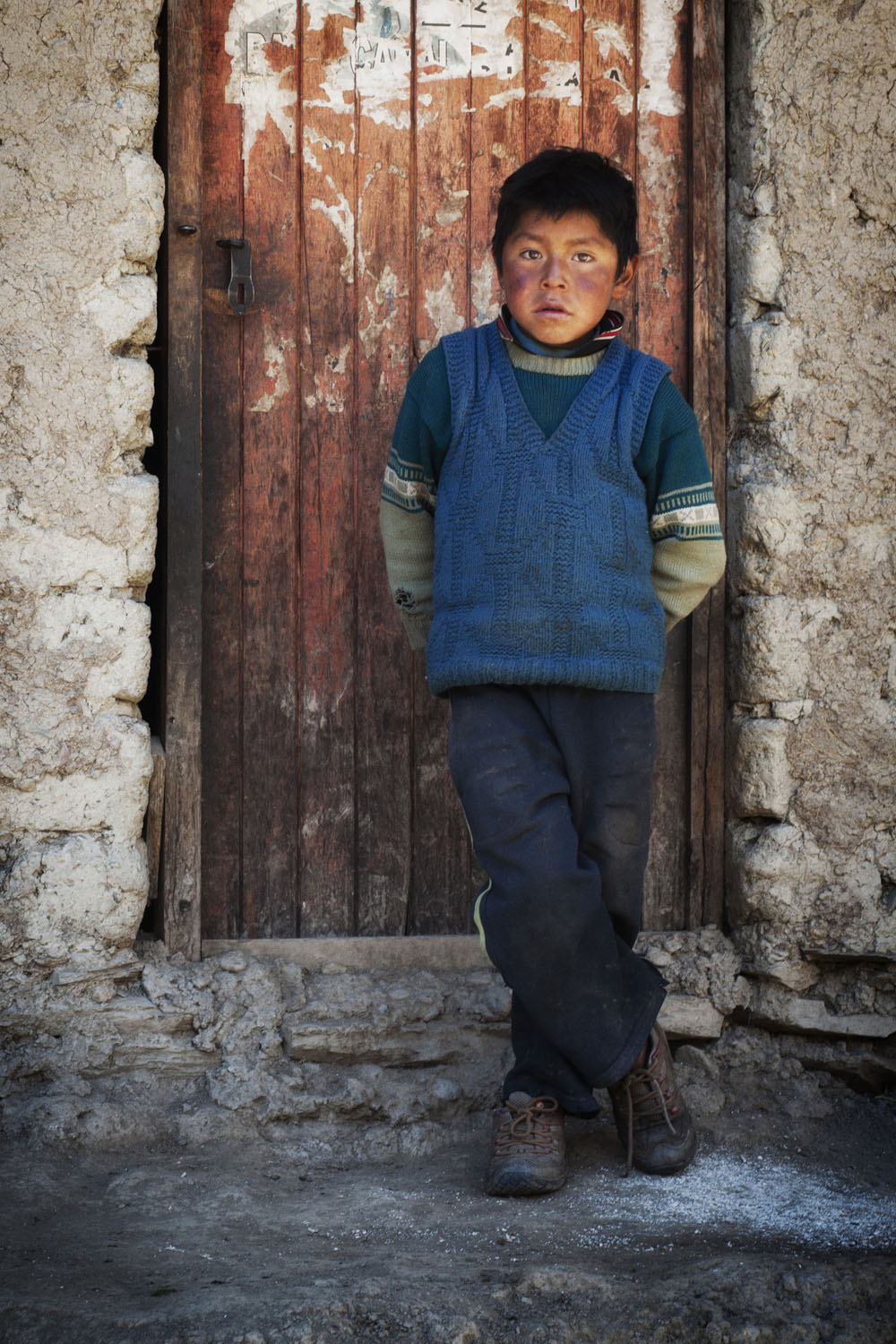 Boy at his Front Door