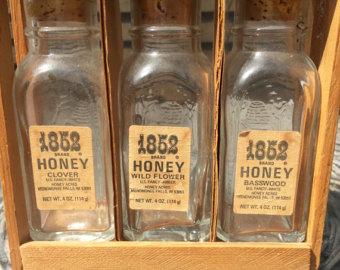 vintage bee honey jars.jpg