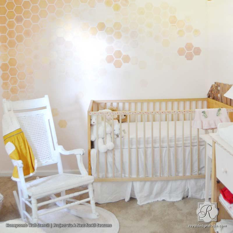 honeycomb-ombre-wall-stencils-Beehive Shoppe.jpg