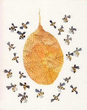Beehive decor bumble bees
