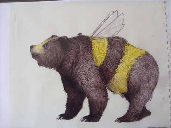 beehive decor bumble bee art00237.jpg
