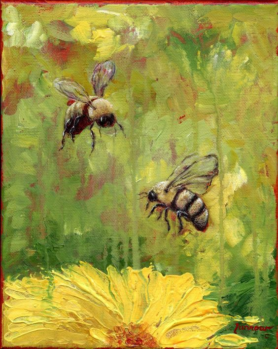 beehive decor bumble bee art00227.jpg