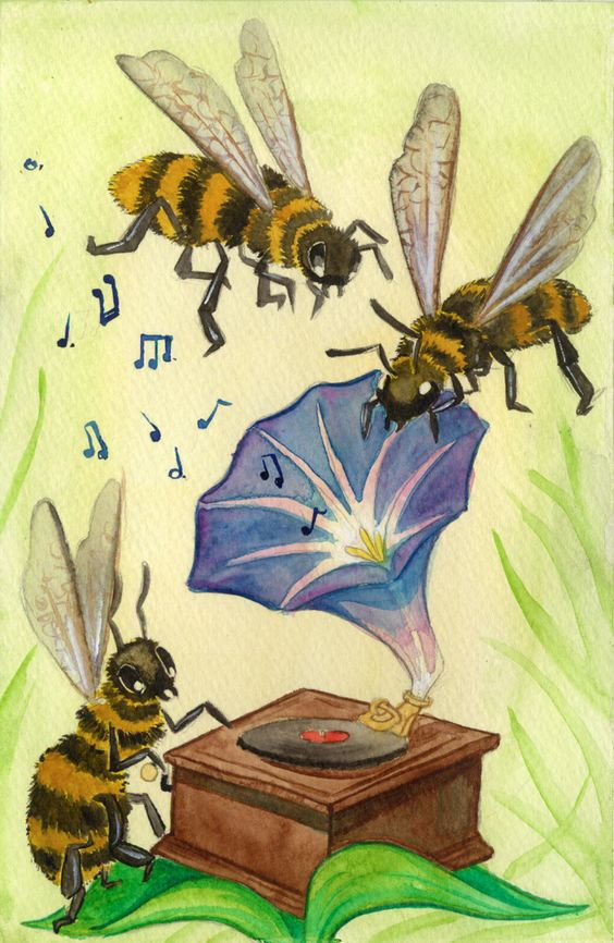 beehive decor honey bumble bee art00237.jpg