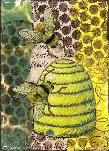 beehive decor honey bumble bee art00225.jpg