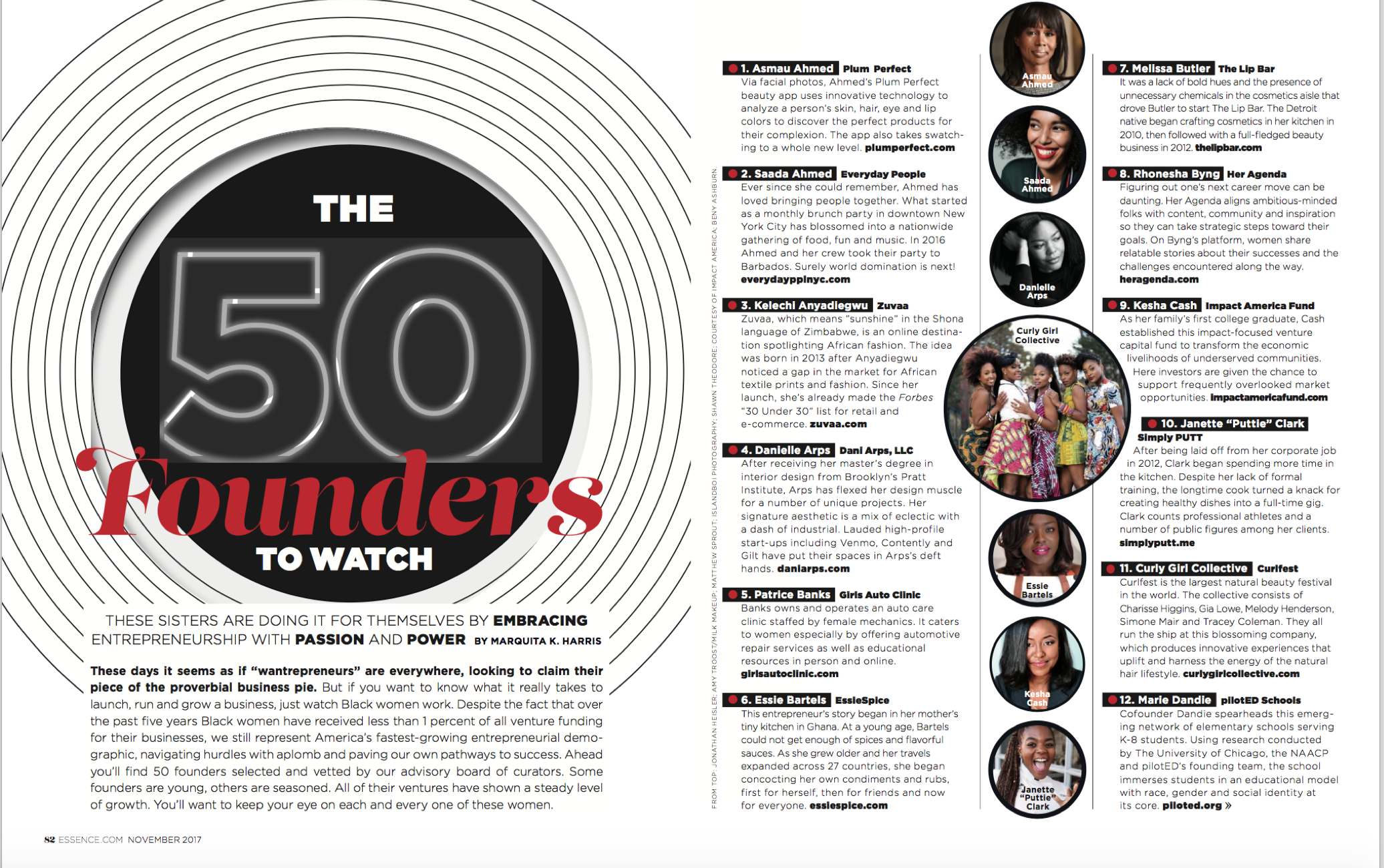 ESSENCE MAGAZINE 50 FOUNDERS TO WATCH - RHONESHA BYNG