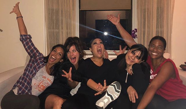 The spirit in these women! What a joy to work with these talented and funny women who also are so in touch with humanity. #HeWasAskingForIt dir @iamkimrie written by @debsjhoon  starring @karlamose @hambone3 @debsjhoon and me. DP by @shannanleighreeve  #femalefilmmakerfriday