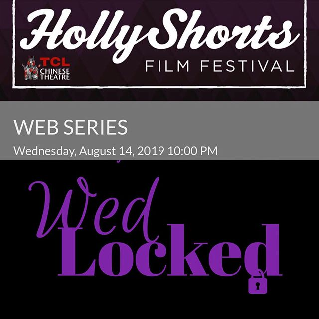 We @wedlockedtribe are an official selection of @hollyshorts film festival!  co-directed and co-produced by our @tinahuang381 and do-created and staring @karlamose . We screen tonight at 10pm! #HSFF19