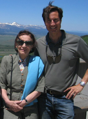 With Françoise Gilot in the Sawtooth Mountains