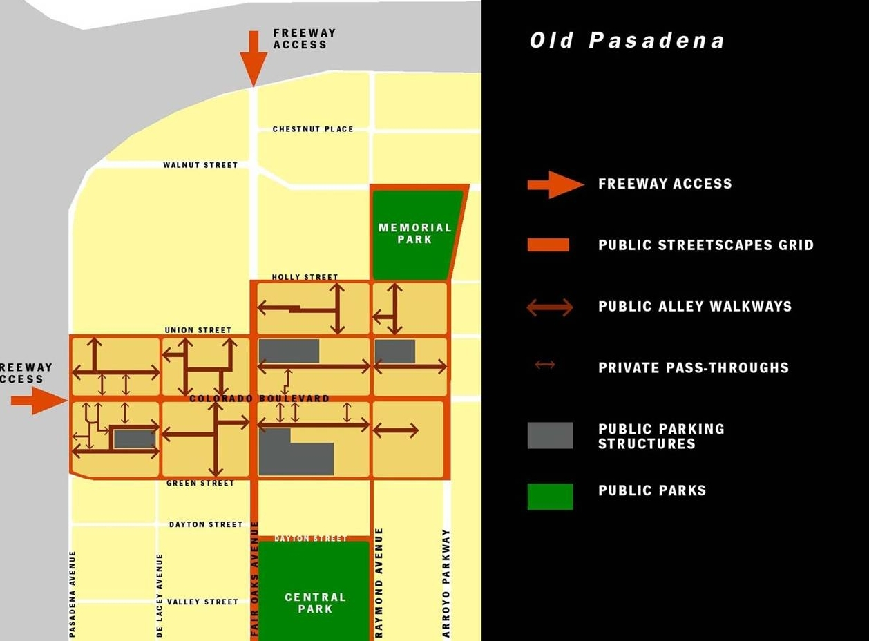 <b>OLD PASADENA DESIGN PLAN</b><br>Pasadena, California</br>