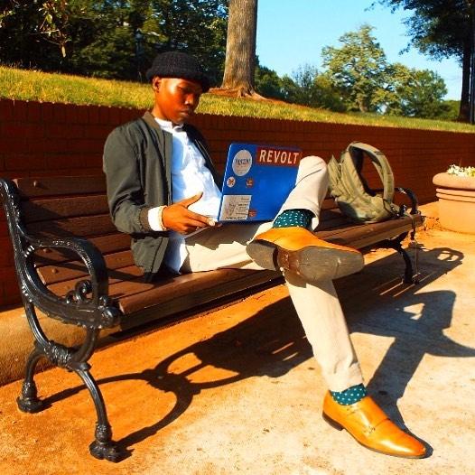 elijah on bench