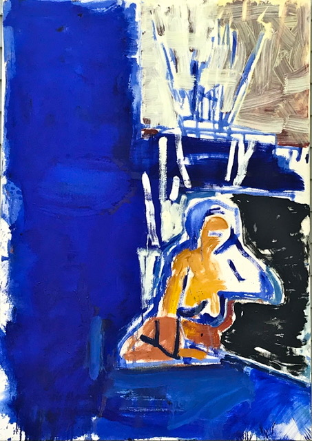 """Matt Schaefer's """"Blue Nude"""""""