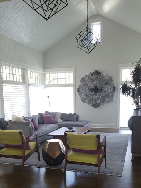 Private Residence, designed by Kara O'Connor Interiors. Art by Allison Svoboda.