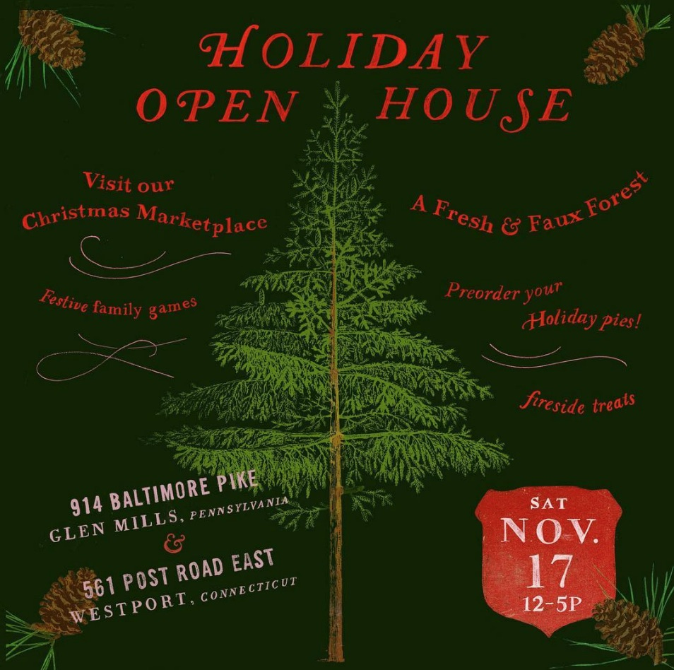 I'm thrilled to be a part of the Holiday Open House this Saturday November 17 at  Terrain Westport.  Besides a few select vendors, there will be lots of special demonstrations, workshops and kids crafts. From what I hear, it gets pretty busy that day so consider coming early. Hope to see you there!